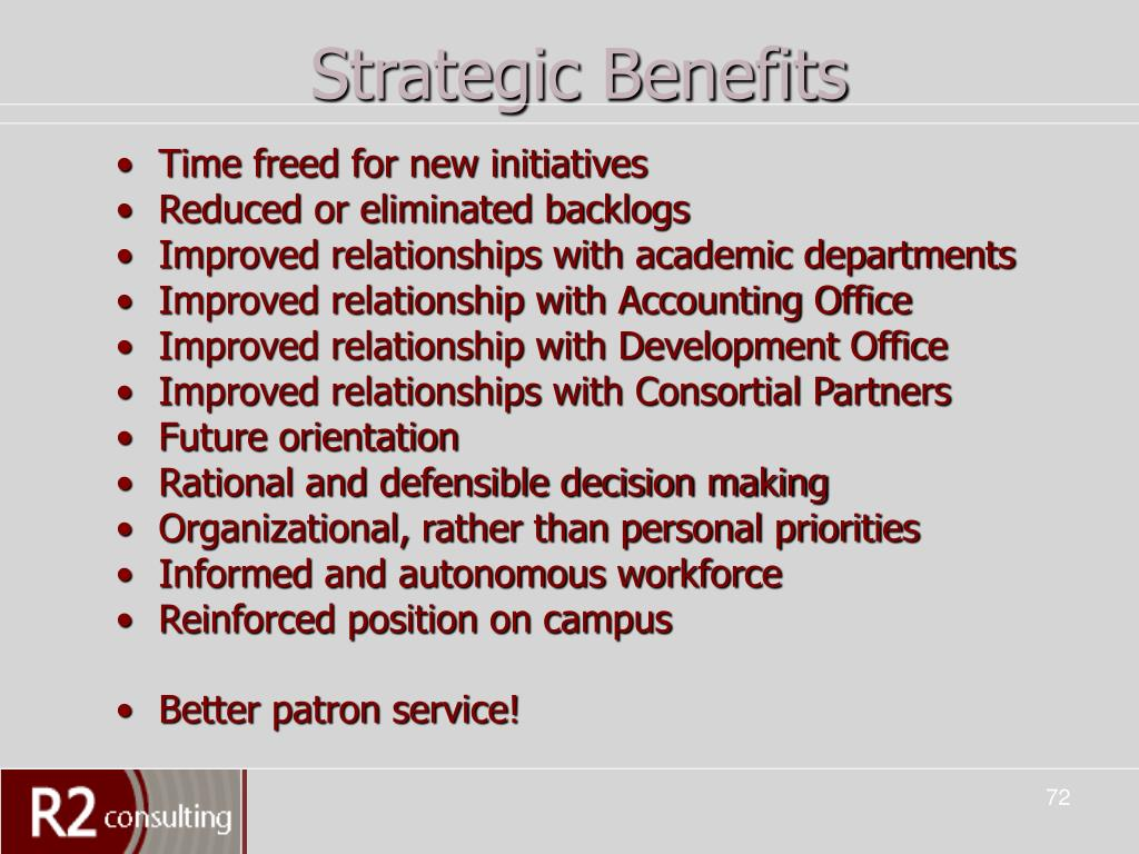 Strategic Benefits