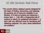 uc bib services task force