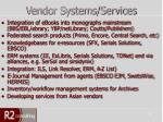 vendor systems services