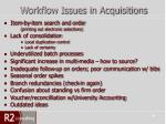 workflow issues in acquisitions