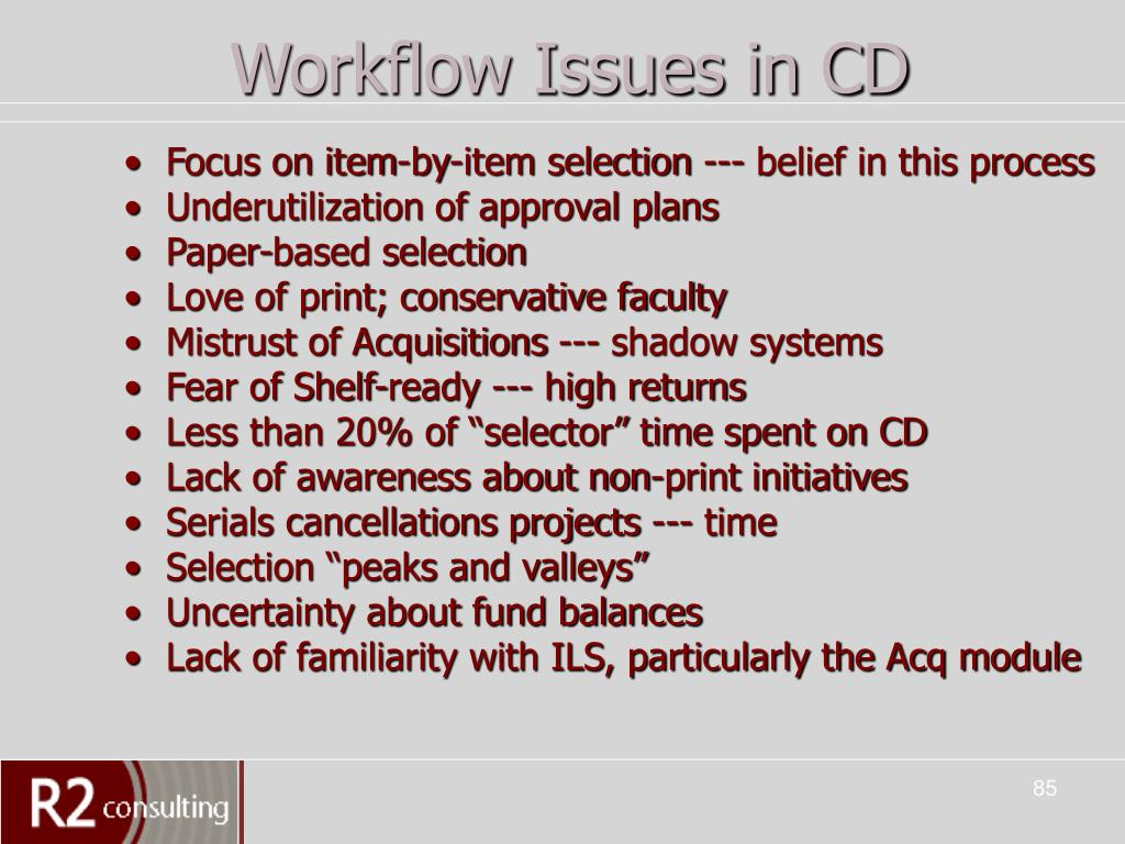 Workflow Issues in CD