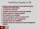 workflow issues in ir