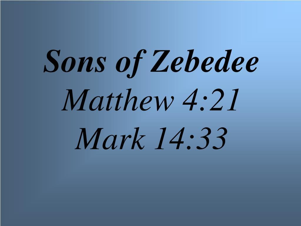 Sons of Zebedee