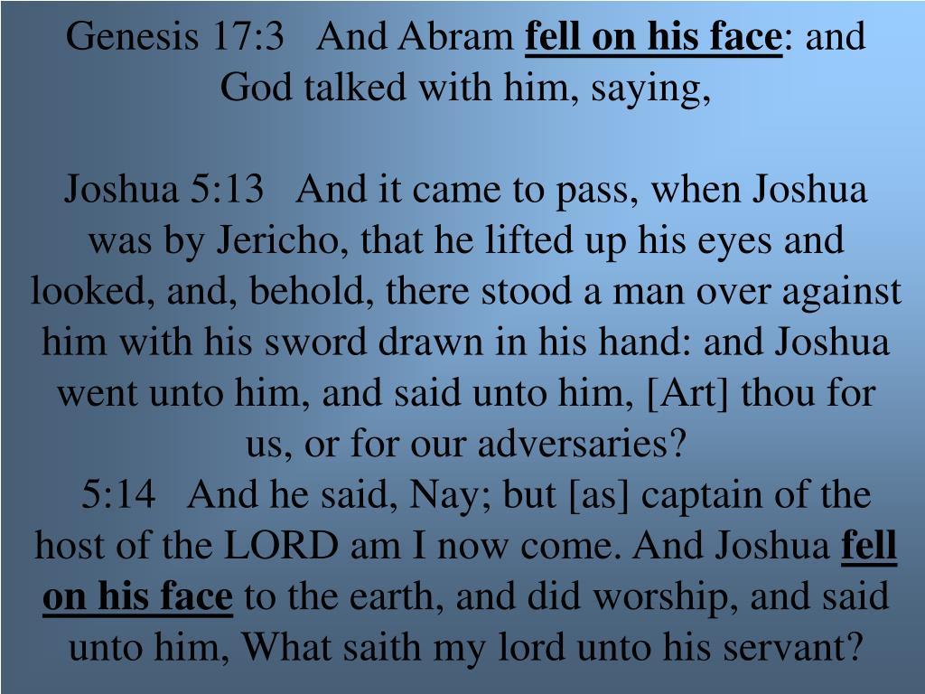 Genesis 17:3   And Abram