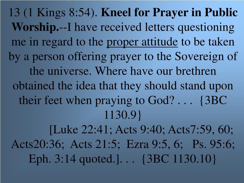 13 (1 Kings 8:54).