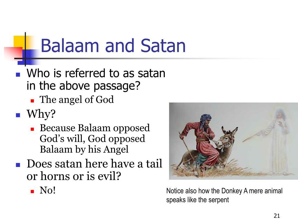 Balaam and Satan