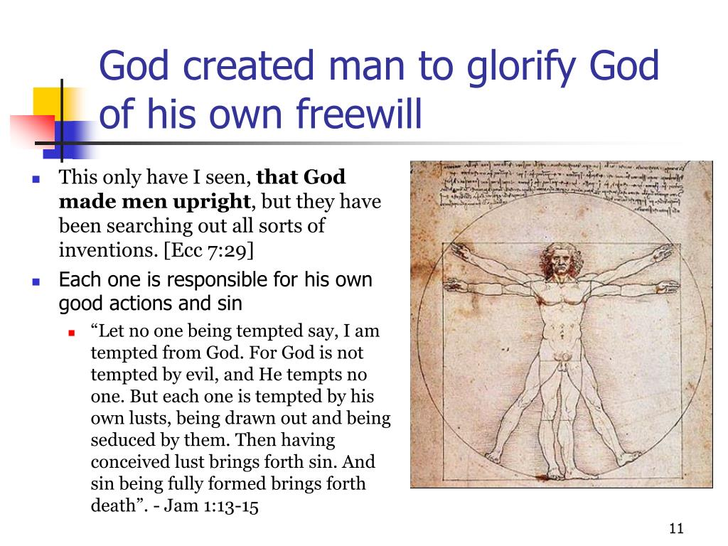 God created man to glorify God of his own freewill