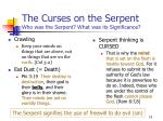 the curses on the serpent who was the serpent what was its significance14