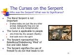 the curses on the serpent who was the serpent what was its significance15