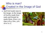 who is man created in the image of god