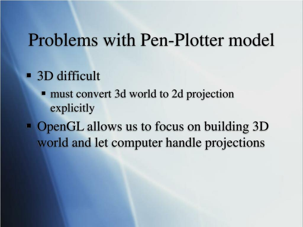 Problems with Pen-Plotter model