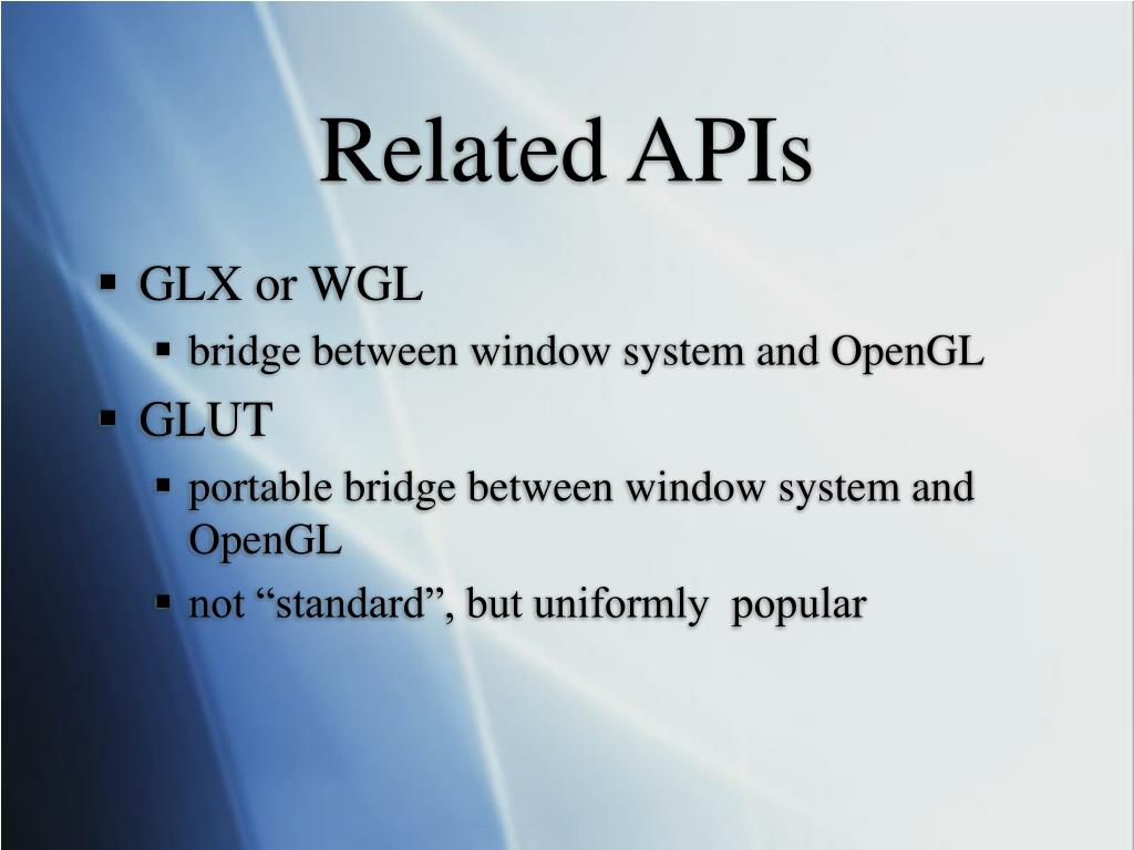 Related APIs
