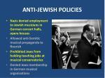 anti jewish policies