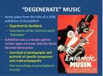 degenerate music