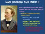 nazi ideology and music ii
