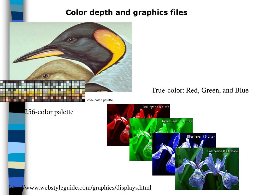 Color depth and graphics files