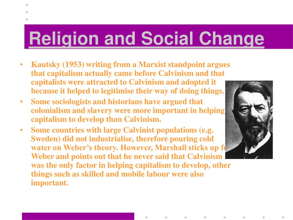 the relationship between religion and social change