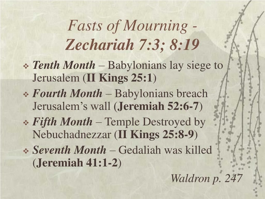 Fasts of Mourning -