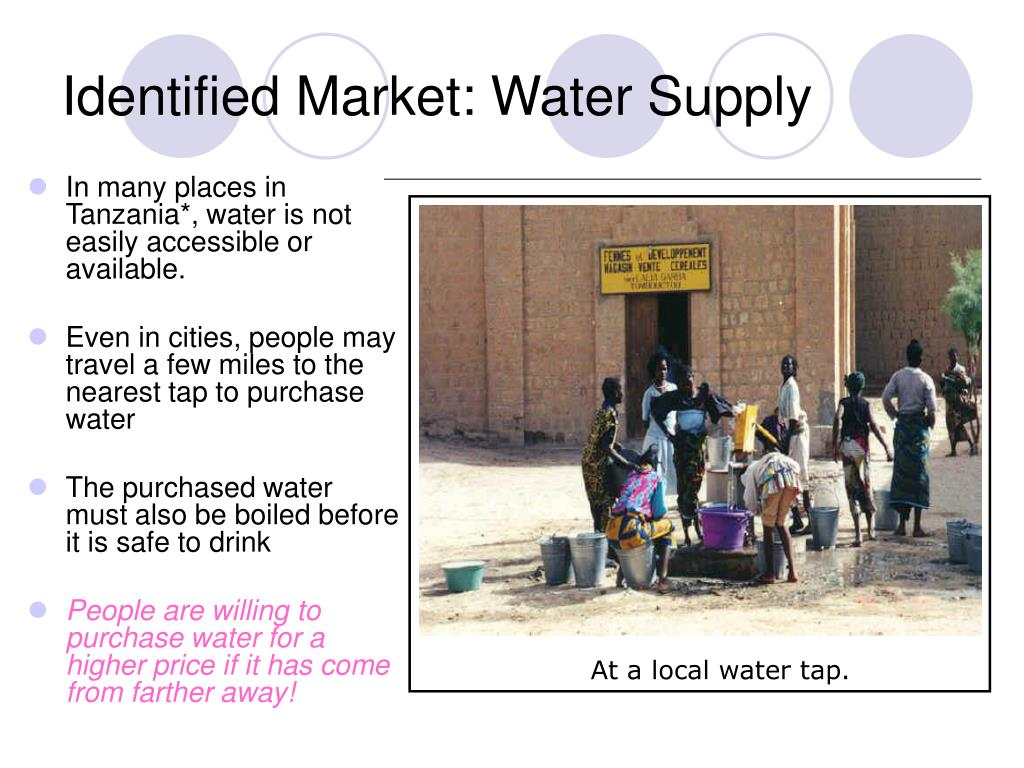 Identified Market: Water Supply
