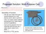 proposed solution multi purpose cart