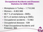 occupational accidents and diseases statistics for 2008 sgk