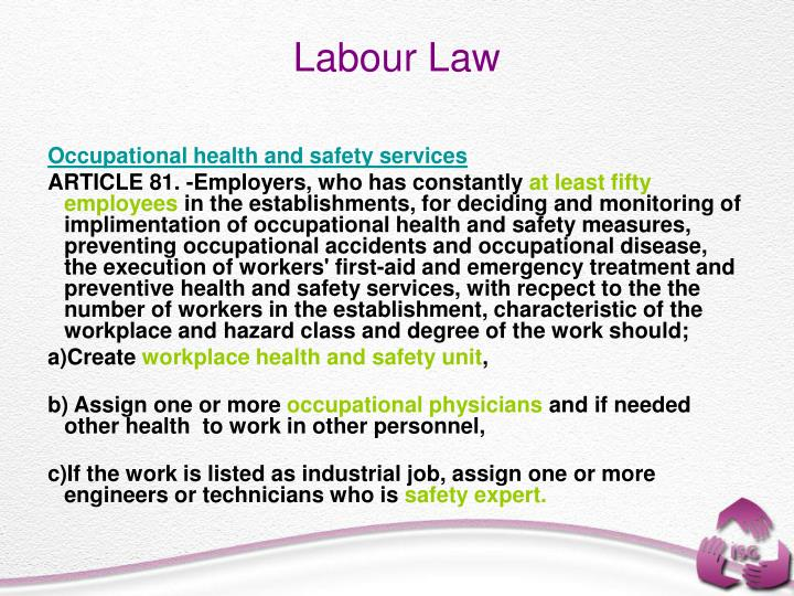 Occupational health and safety services