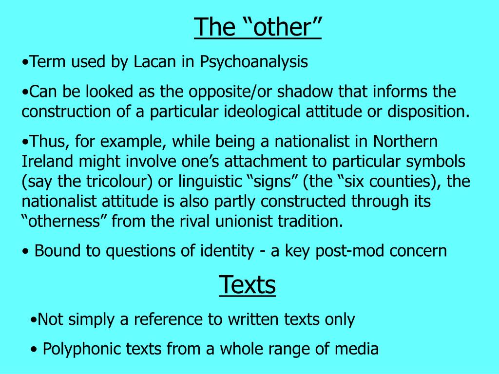 "The ""other"""