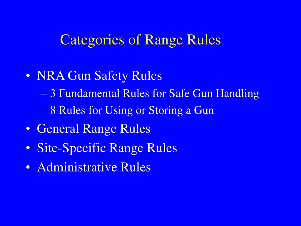 Categories of Range Rules