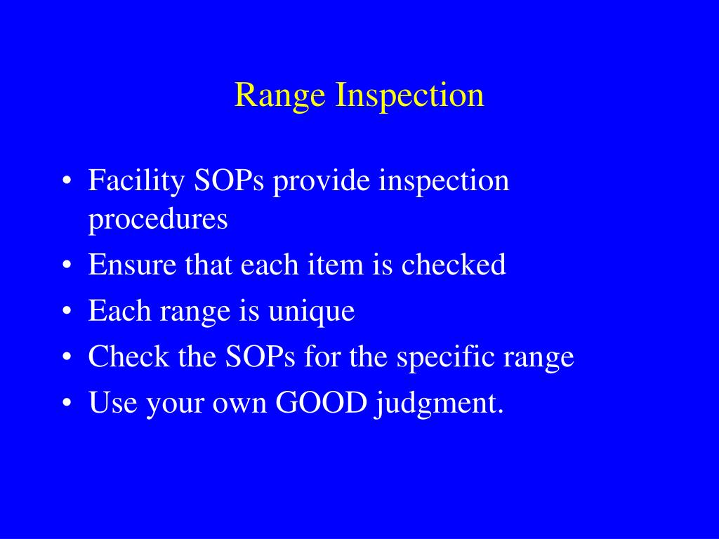 Range Inspection