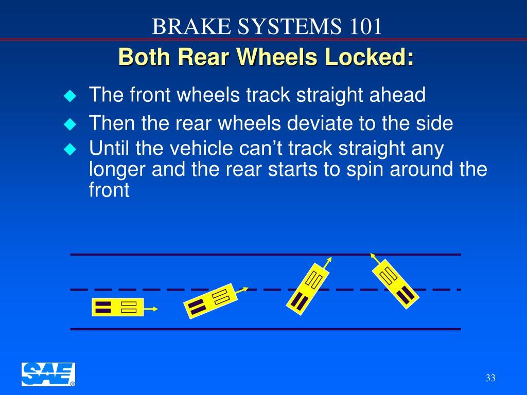 Both Rear Wheels Locked: