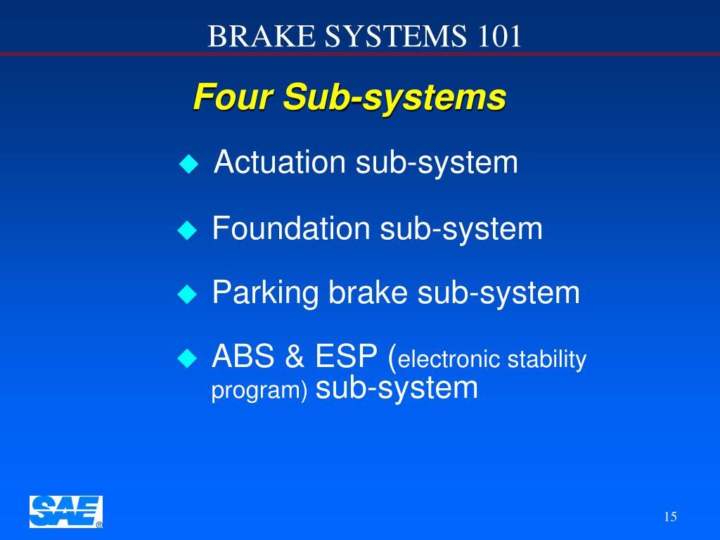 Four Sub-systems