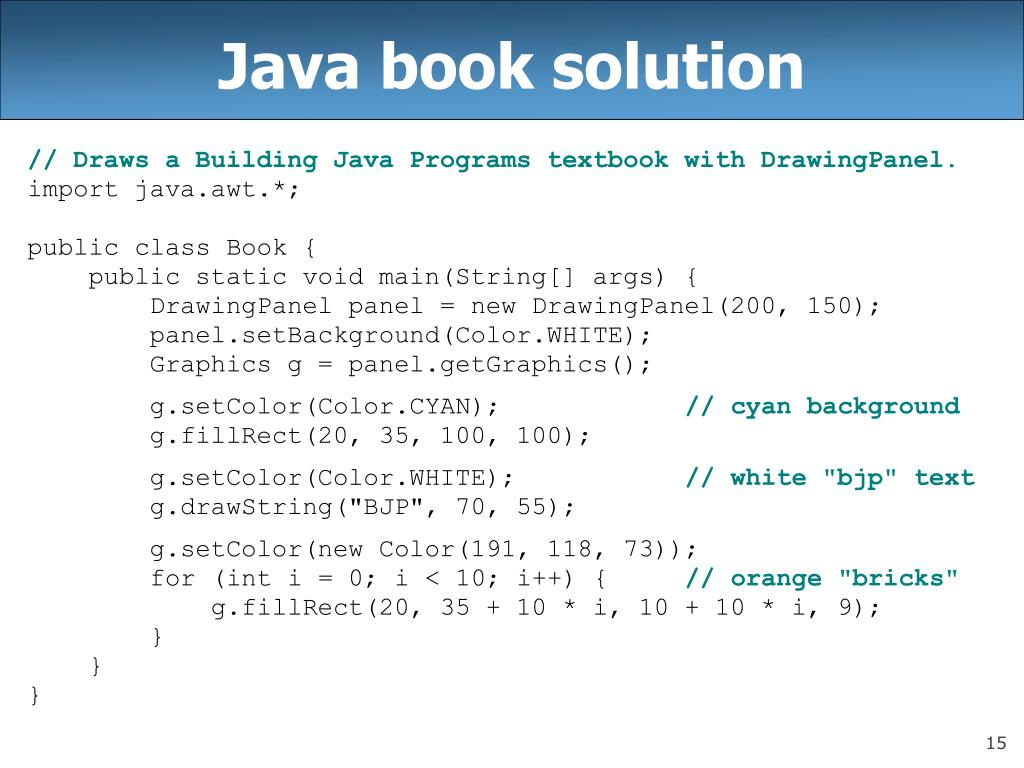 Java book solution
