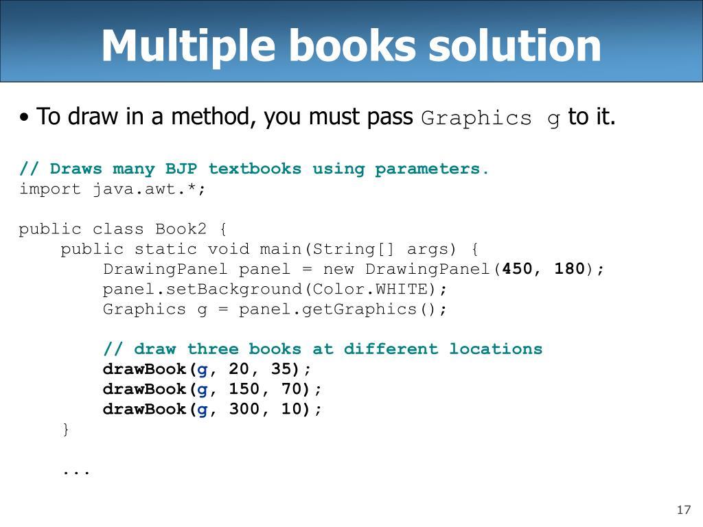 Multiple books solution