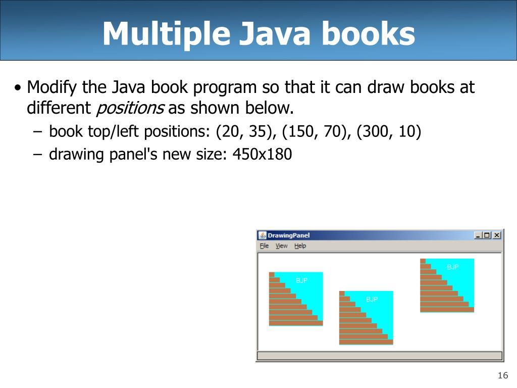 Multiple Java books