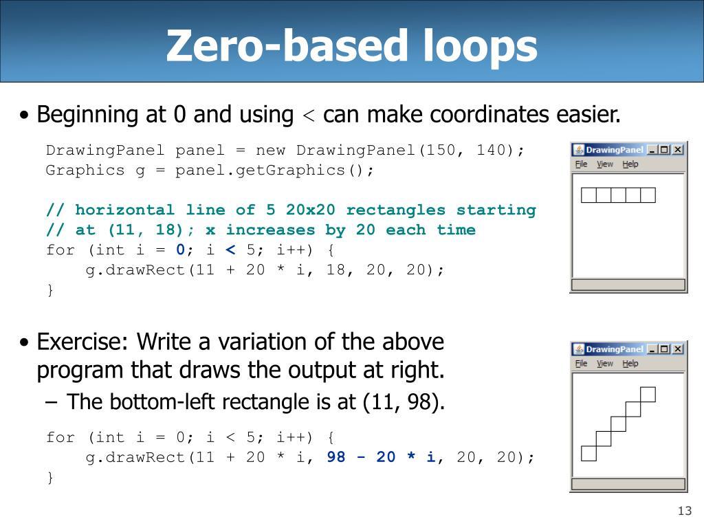 Zero-based loops