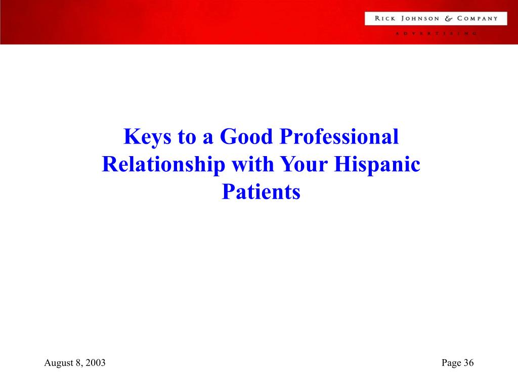 Keys to a Good Professional Relationship with Your Hispanic Patients