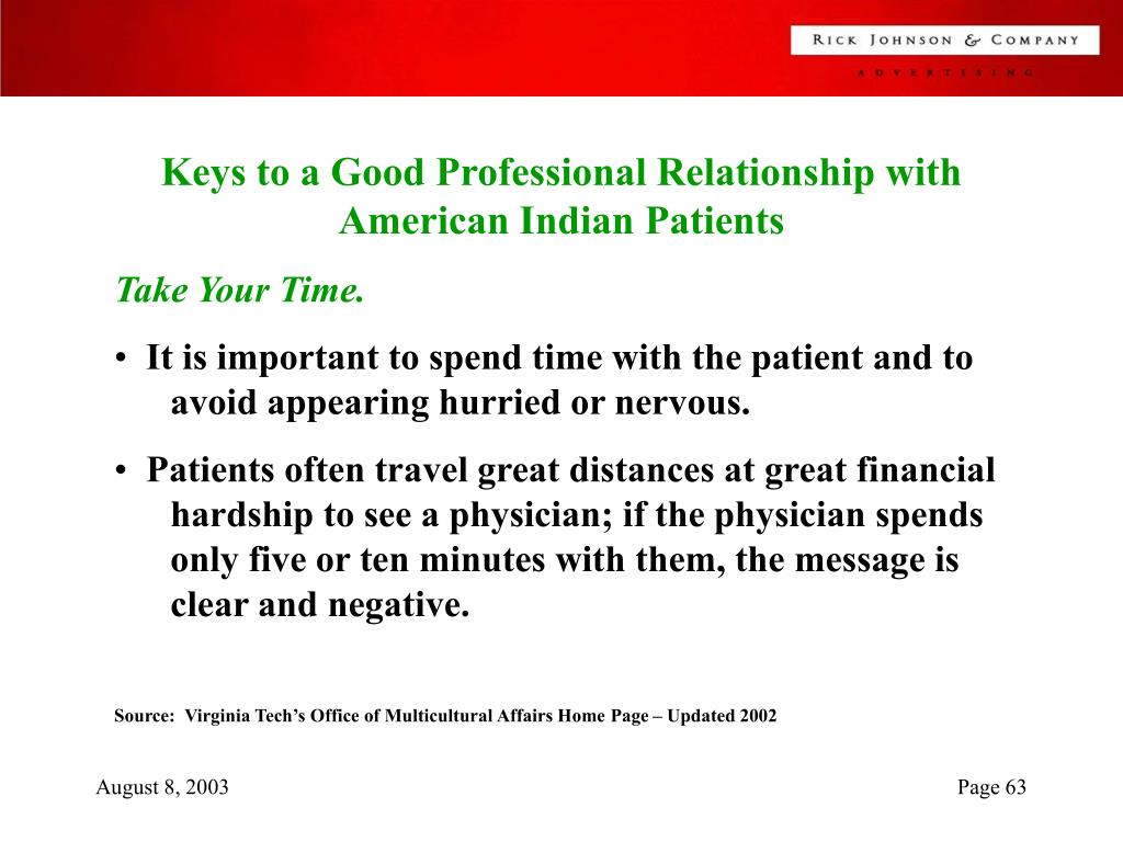 Keys to a Good Professional Relationship with American Indian Patients