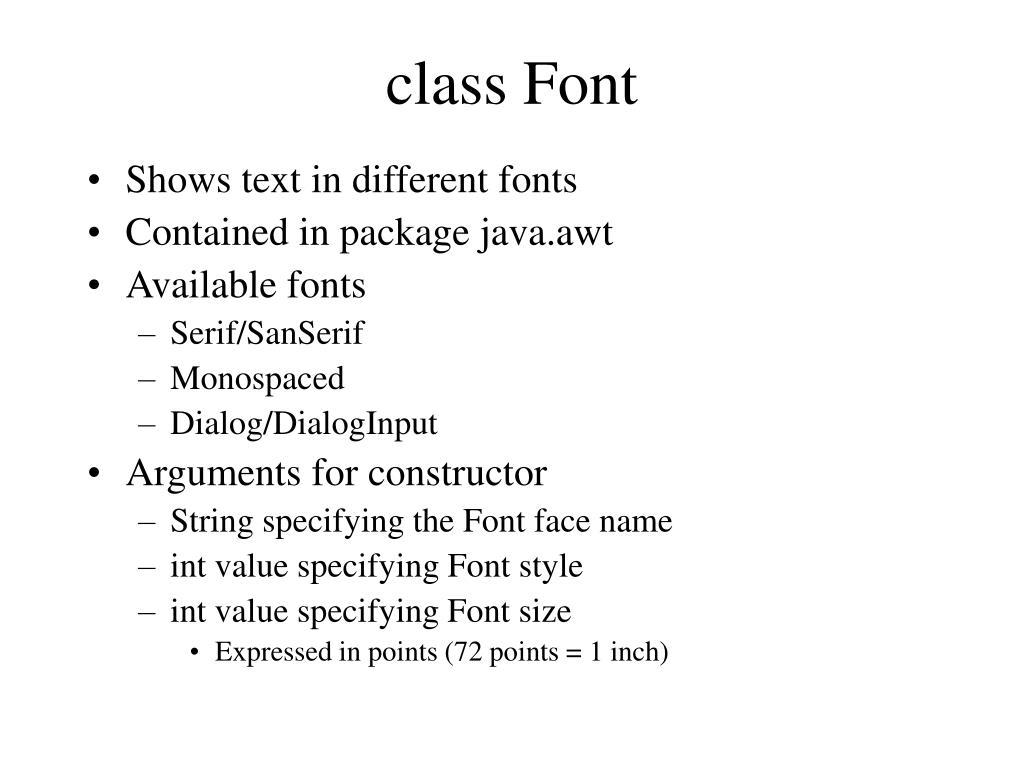 class Font