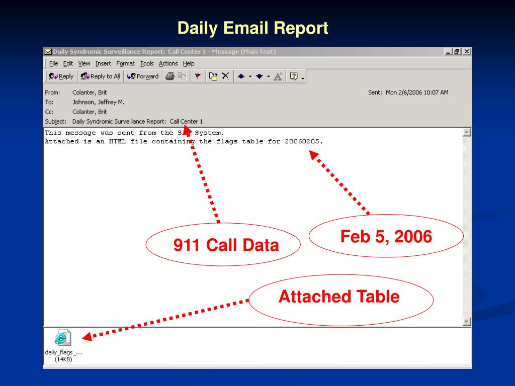Daily Email Report