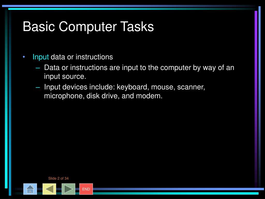Basic Computer Tasks
