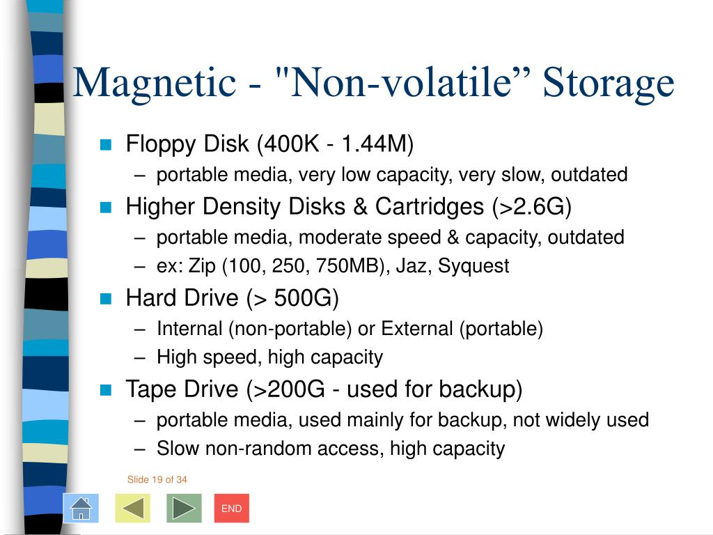 "Magnetic - ""Non-volatile"" Storage"