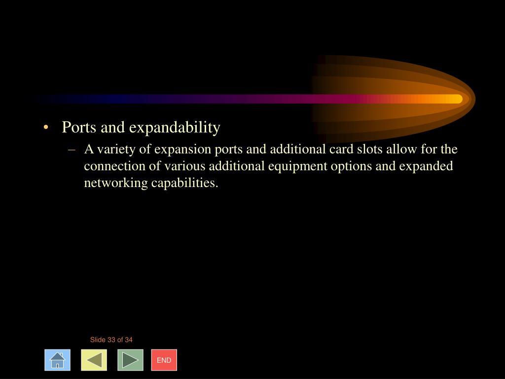 Ports and expandability