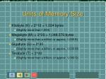 units of memory size