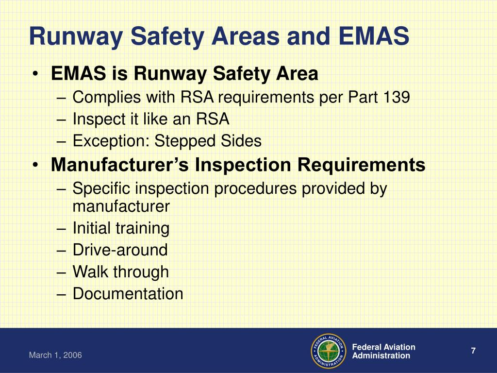 Runway Safety Areas and EMAS