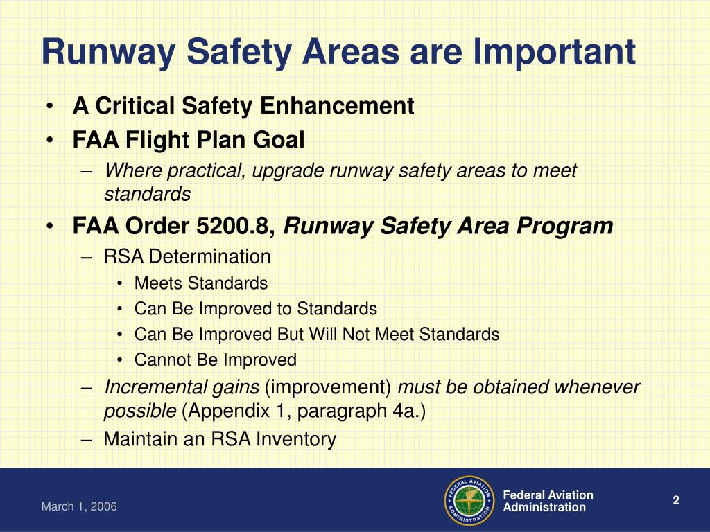 Runway Safety Areas are Important
