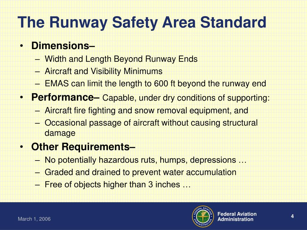 The Runway Safety Area Standard