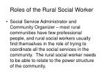 roles of the rural social worker8