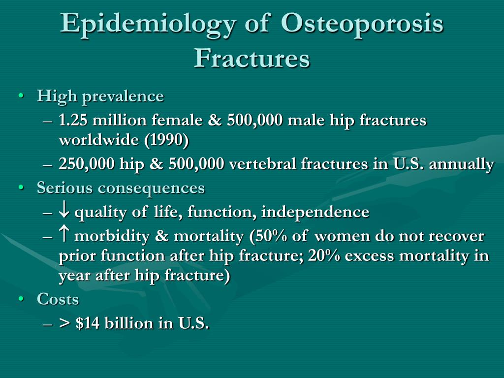 Epidemiology of Osteoporosis Fractures