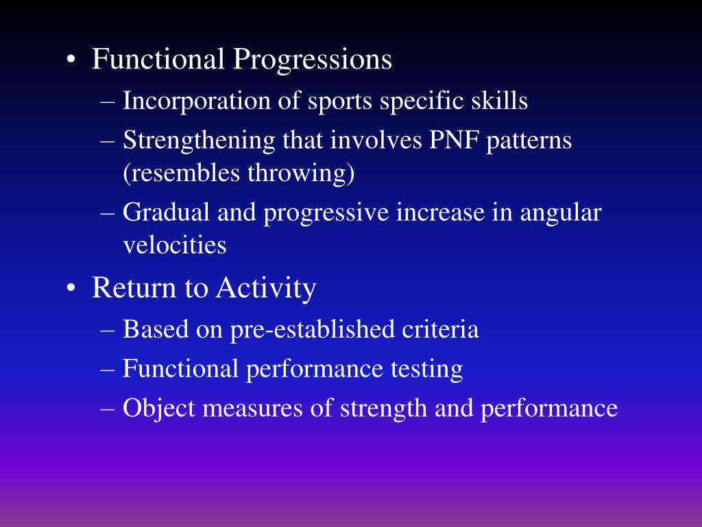 Functional Progressions
