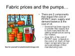 fabric prices and the pumps